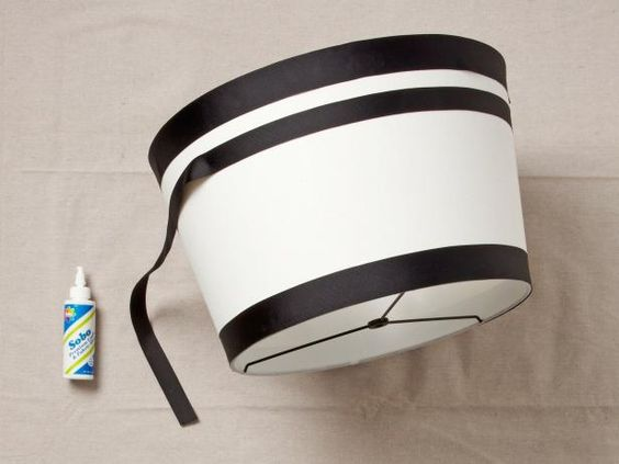 Create a striped lampshade with this how-to from HGTV Magazine and DIY blogger Typhanie Peterson.