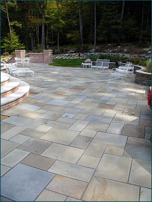Full Range Color Bluestone Patio Shows The Unique Combination Of Colors  That Is Possible With This Bluestone From Wicki Stone | Patio | Pinterest  ...