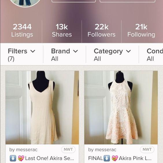 2 item bundle! 2 item bundle! 1) Akira lace dress 2) Akira Grecian style dress. Both NWT. Please see original listings for details AKIRA Dresses