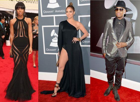 Vestidos de festa do Grammy 2013 - Sensualidade à flor da pele