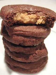 Chocolate Peanut Butter Surprise Cookies, my friend made these....TO DIE FOR!!!