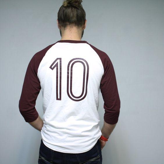 """10th year"" Baseball T- Maroon/White | Groundzero Apparel"