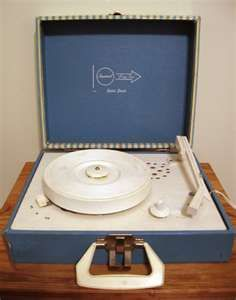 I got a blue jean record player for Christmas one year and a bunch of old 45's...best present ever :)