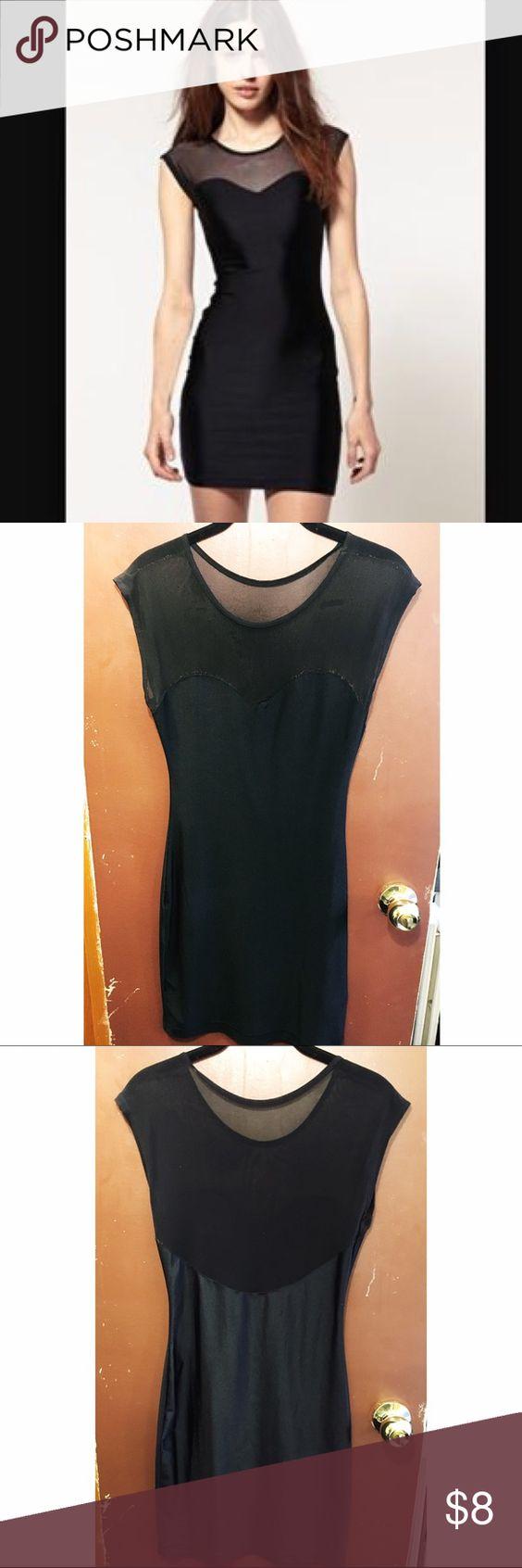 American Apparel Black Mesh Dress American Apparel Black Mesh Dress M/L. Neckline is worn but barely noticeable when on. American Apparel Dresses Mini