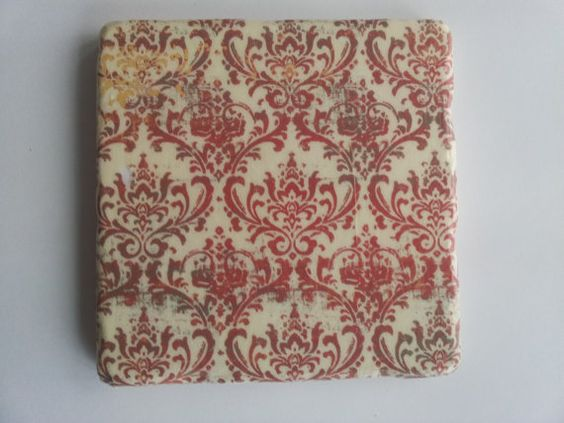 Red+and+Ivory+Tumbled+Marble+Coasters+Set+of+by+BaileyGirlCoasters,+$15.00
