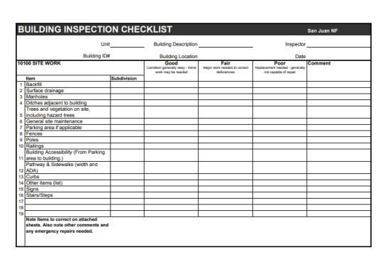 Home Inspection Checklist Template 20 Best And Free Printable