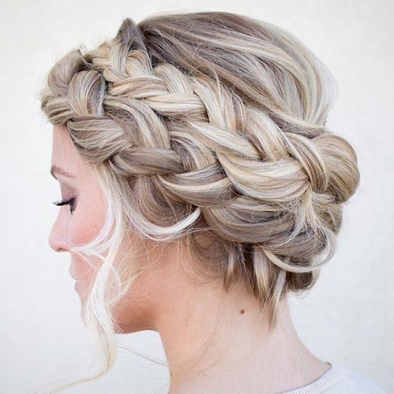 Peachy Double French Braids Braid Crown And French Braids On Pinterest Short Hairstyles Gunalazisus