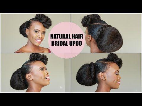 Diy Bridal Bridesmaid Natural Hair Updo Youtube Natural Hair Styles Natural Hair Updo Natural Hair Styles Easy