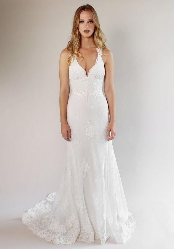 Carmel Lace Bridal Gown Romantique Claire Pettibone