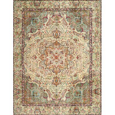 Bloomsbury Market Deracy Traditional Beige Red Green Area Rug