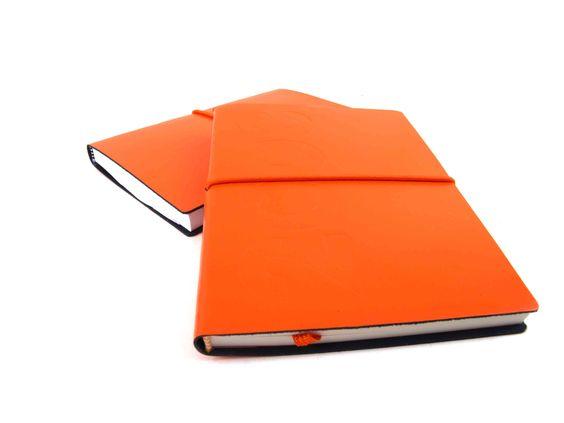 Cuadernos piel naranja!!!