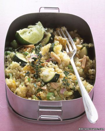 Quinoa, which is used like a grain but is really a seed, can be found at natural foods stores and many supermarkets.