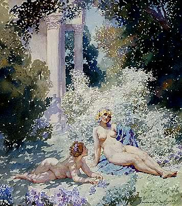 Two Suns  by Australian artist Norman Lindsay
