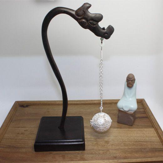 【純銀】999 純銀香熏球 沉香香囊 客房香料 可熏香 送掛架