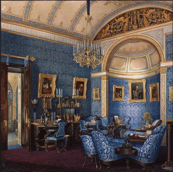 Winter Palace - Boudoir of Grand Princess Maria Alexandrovna / Russia