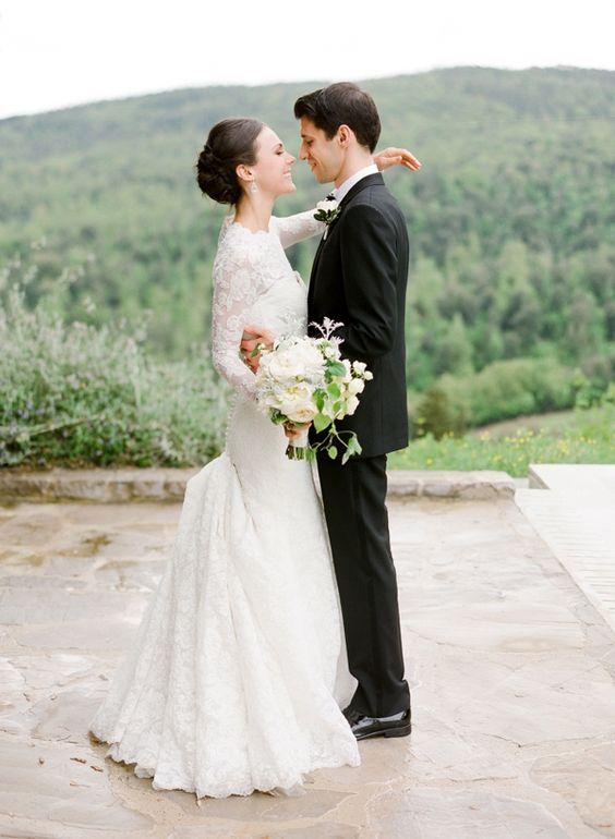 Danielle und Michael Tuscany Italienische Hochzeit