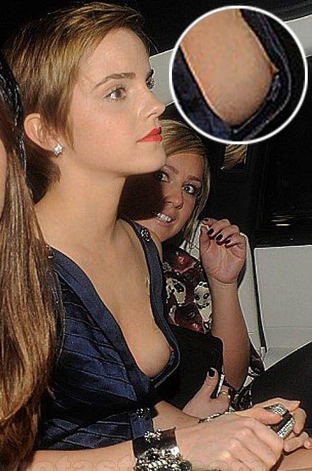 Emma Watson Boobs Nude  Emma Watson Nipple Slip  Real -5774