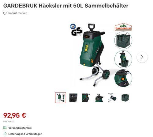 Gardebruk Dbhc004 Hacksler Mit 50l Sammelbehalter 2400 W Behalter Sammeln Haus Und Garten