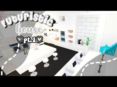 Luxurious Futuristic House Speedbuild Roblox Adopt Me Jenn N Youtube Futuristic Home Cute Room Ideas Roblox