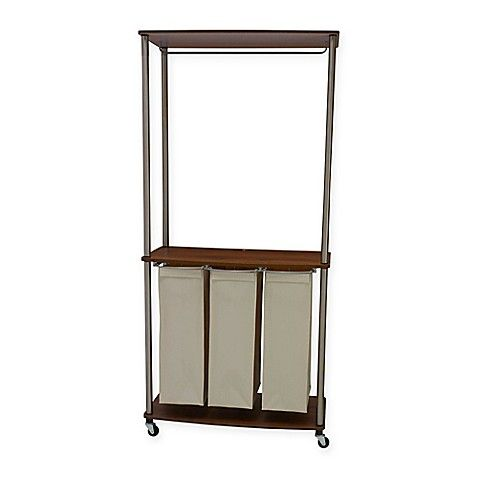 Household Essentials Laundry Center Sorter With Hanging Rod