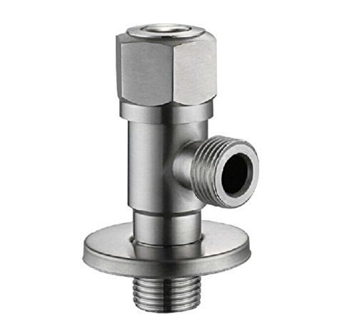 Ximeiyangweiyu Mixing Valve Faucet Stainless Steel Bathroom Angle Stop Valve Water Heater Triangle Access Stainless Steel Bathroom Faucet Tankless Water Heater