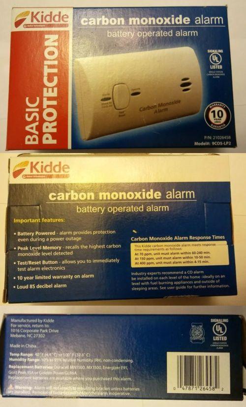 Carbon Monoxide Detectors 115943 New Kidde Carbon Monoxide Alarm 9co5 Lp2 Battery Operated Fast Shipping Buy Carbon Monoxide Alarms Carbon Monoxide Carbon
