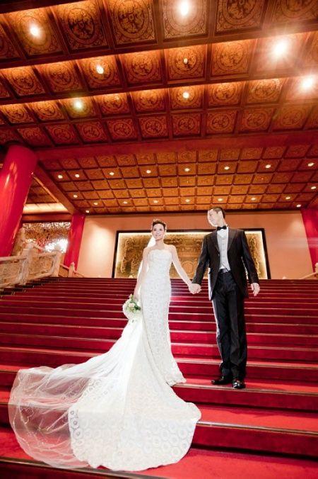 何妤玟與老公昨日在圓山飯店宴客(圖片來源:何妤玟臉書)