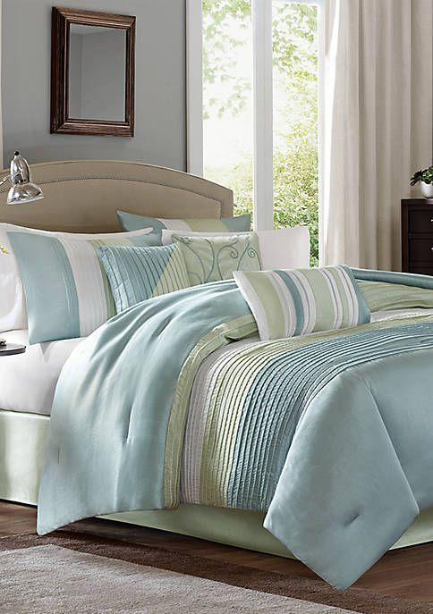 Lucinda 7 Piece Reversible Cotton Sateen Comforter Set In 2021 Comforter Sets Master Bedroom Comforter Sets Brown Comforter Sets