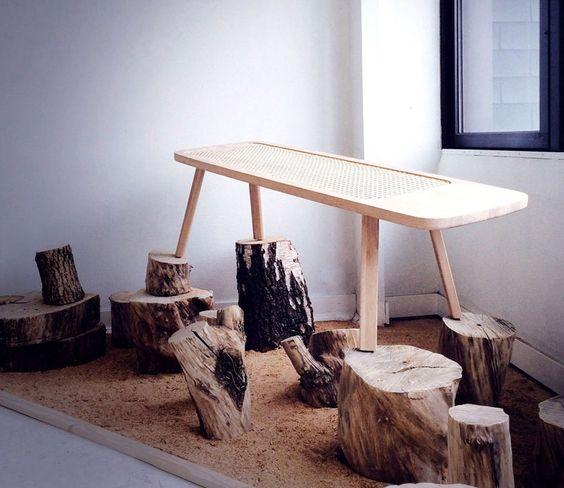 tim defleur embeds an ancestral technique into his contemporary oza bench