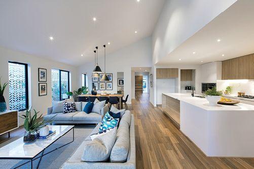 Aménagement de vie ouvert | Plans d\'étage ouverts modernes ...