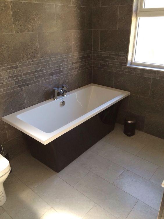 New freestanding Black bath