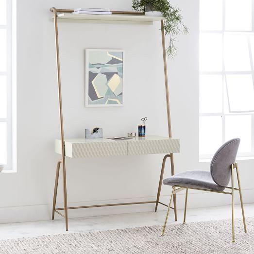 Mid Century Art Display Mini Desk Interior Design Bedroom Wall Desk Mid Century Mini Desk