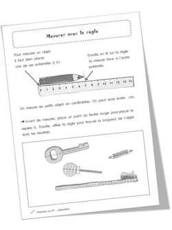 Cp mesurer avec la r gle le on exercices cole math pinterest - Regle pour mesurer ...