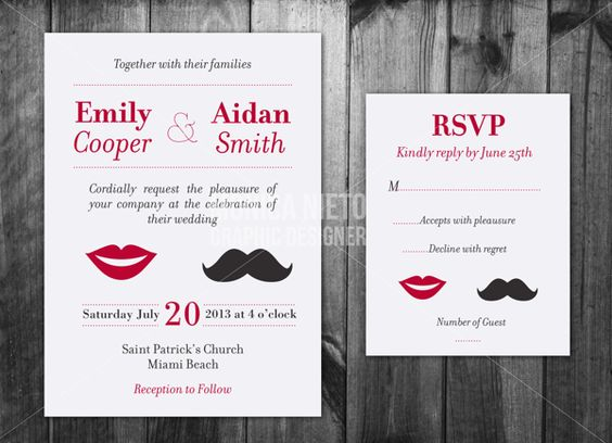 Custom Wedding Invitations on Behance