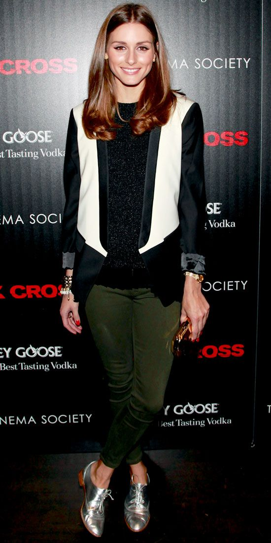 Olivia Palermo | Oxford shoes | Metallic oxfords | http://cademeuchapeu.com