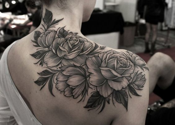 Beautiful linework rose tattoo by Marquinho Andre
