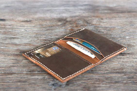 Breast Pocket Wallet Leather Wallet Handmade Leather von JooJoobs