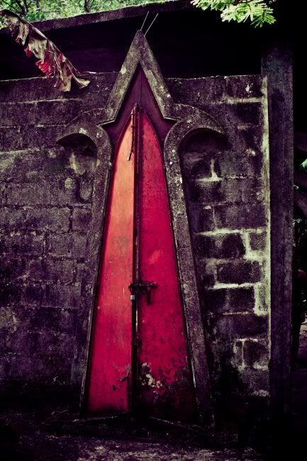red magical doorway
