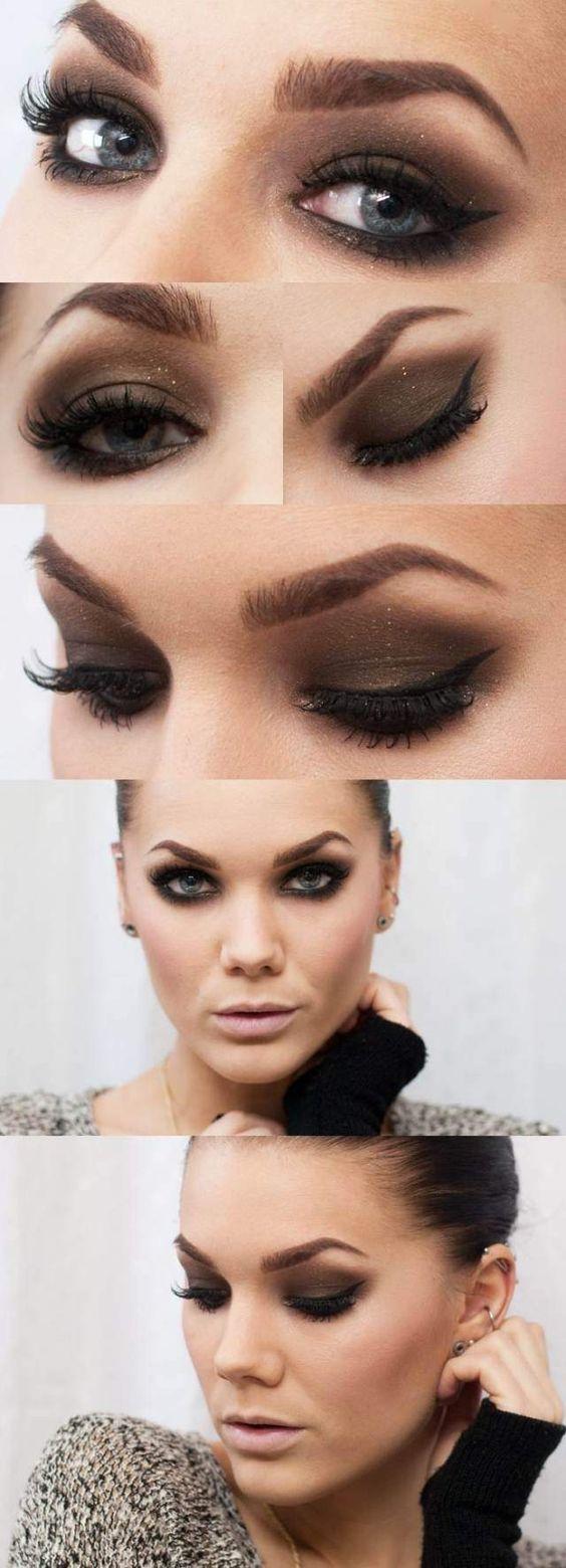 maquillage des yeux smokey eye noir et dramatique