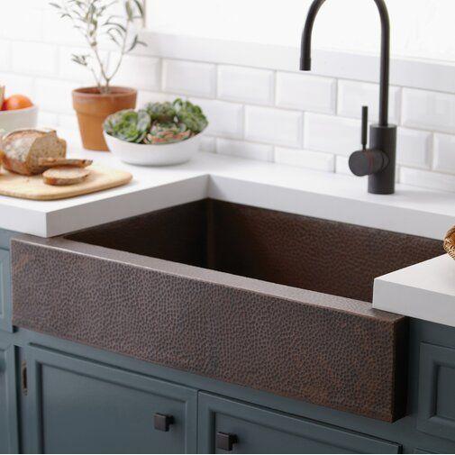 33 L X 22 W Farmhouse Kitchen Sink Farmhouse Sink Kitchen Apron Front Kitchen Sink Copper Farmhouse Sinks
