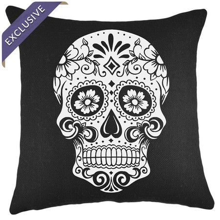 Sugar skull, Skull pillow and Skulls on Pinterest