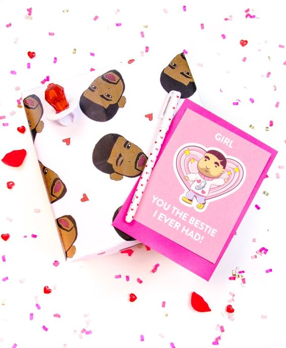 Little Drake Printable Galentines and Valentines Day Cards!