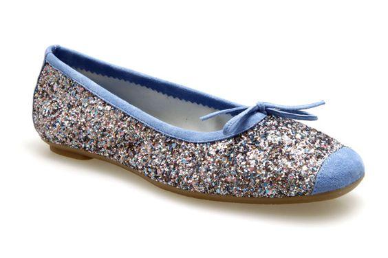 Ballerines Reqins HARMONY GLITTER Bleu / Multicolore - Chaussures femme Reqins nouvelle collection printemps été 2014 - Shoes Paradise