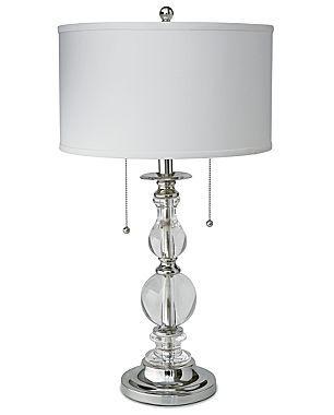 Royal Velvet 174 Optic Crystal Table Lamp Cindy Crawford