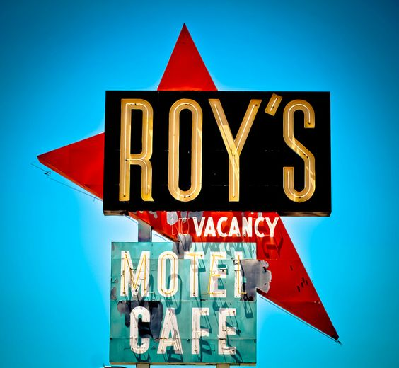 Vintage Sign. Roy's Motel and Cafe (Route 66) by TooMuchFire, via Flickr