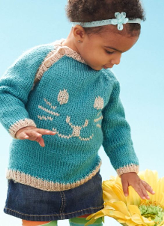 Rabbit Sweater Knitting Pattern : Knit bunny pullover free sweater pattern from joann