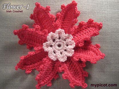 Crochet Tutorial De Flor Mypicot Free Crochet Patterns Http