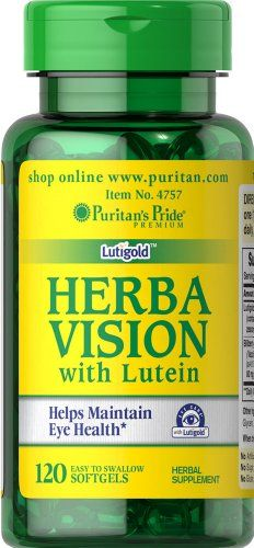 Herbavision with Lutein and Bilberry, 120 Softgels