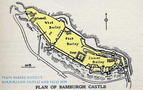 Mapa del Castillo de Bamburh.