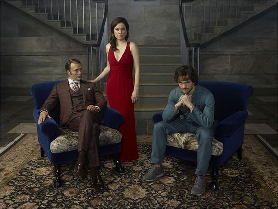 Mads Mikkelsen, Caroline Dhavernas, Hugh Dancy in Hannibal